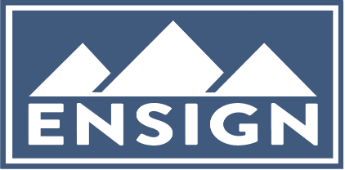 Ensign Logo blue box